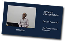 Watch the Dr Alan Finkel keynote presentation